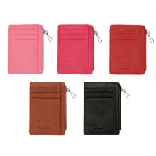 Fashion Women Leather Slim Wallet Money Purse Credit Card Holder Coin Pocket Zipper Bag