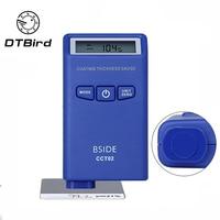 Medidor de espesor de recubrimiento digital Mini medidor de espesor de pintura de coche película Auto pintura probador Eddy current (F + N) herramienta de medición|Instrumentos de medición de anchura|   -
