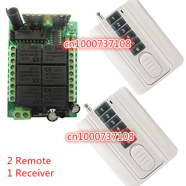 SG POST 6 CH RF 12V 10A wireless remote control Switch Long distance RF remote control Remote Control Manufacturer 12v 8 ch channel rf wireless remote control switch