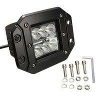 18 W 5 inç Gömme Montaj LED İş Işık Sel 4X4 Offroad Led sürücü Kamyonet 4WD LED IŞıK BAR