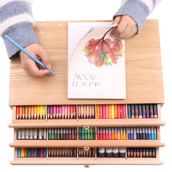 Beech Drawer Wood Stand Easel Set Desk Oil Paint Box Sketch Colored Pencils Storage Box Drawing Bracket Sketching Art Board 1