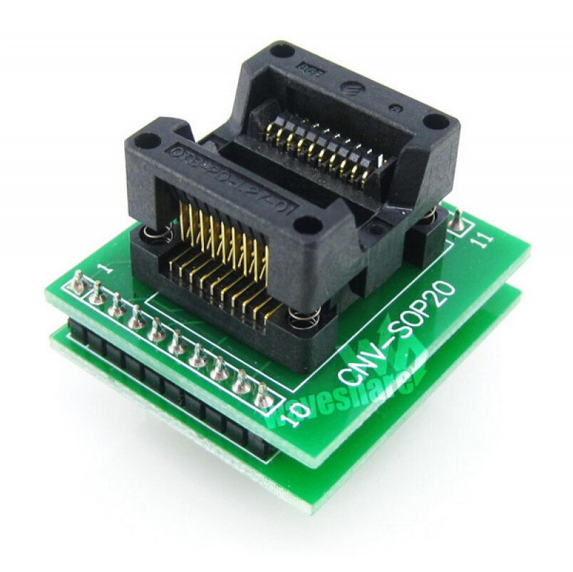 ФОТО SOP20 TO DIP20 # SO20 SOIC20 OTS-20-1.27-01 Enplas IC Programming Adapter Test Burn-in Socket 1.27mm Pitch 5.4mm Width
