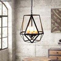 Винтаж подвесной светильник Лофт ретро люстра для ресторана/для магазина кофе, дома освещение Luminarias Nordic дизайн люсис привело decoracion