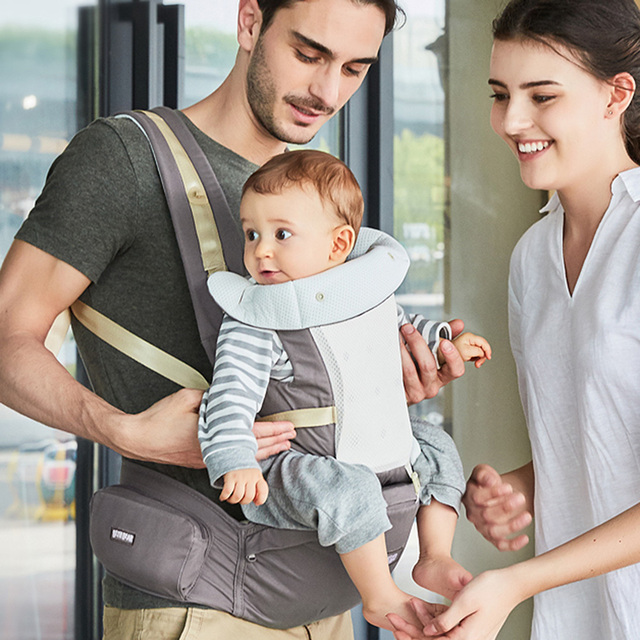 Beth Bear 0-30 Months Breathable Front Facing Baby Carrier 4 in 1 Infant Comfortable Sling Backpack Pouch Wrap Baby Carriers