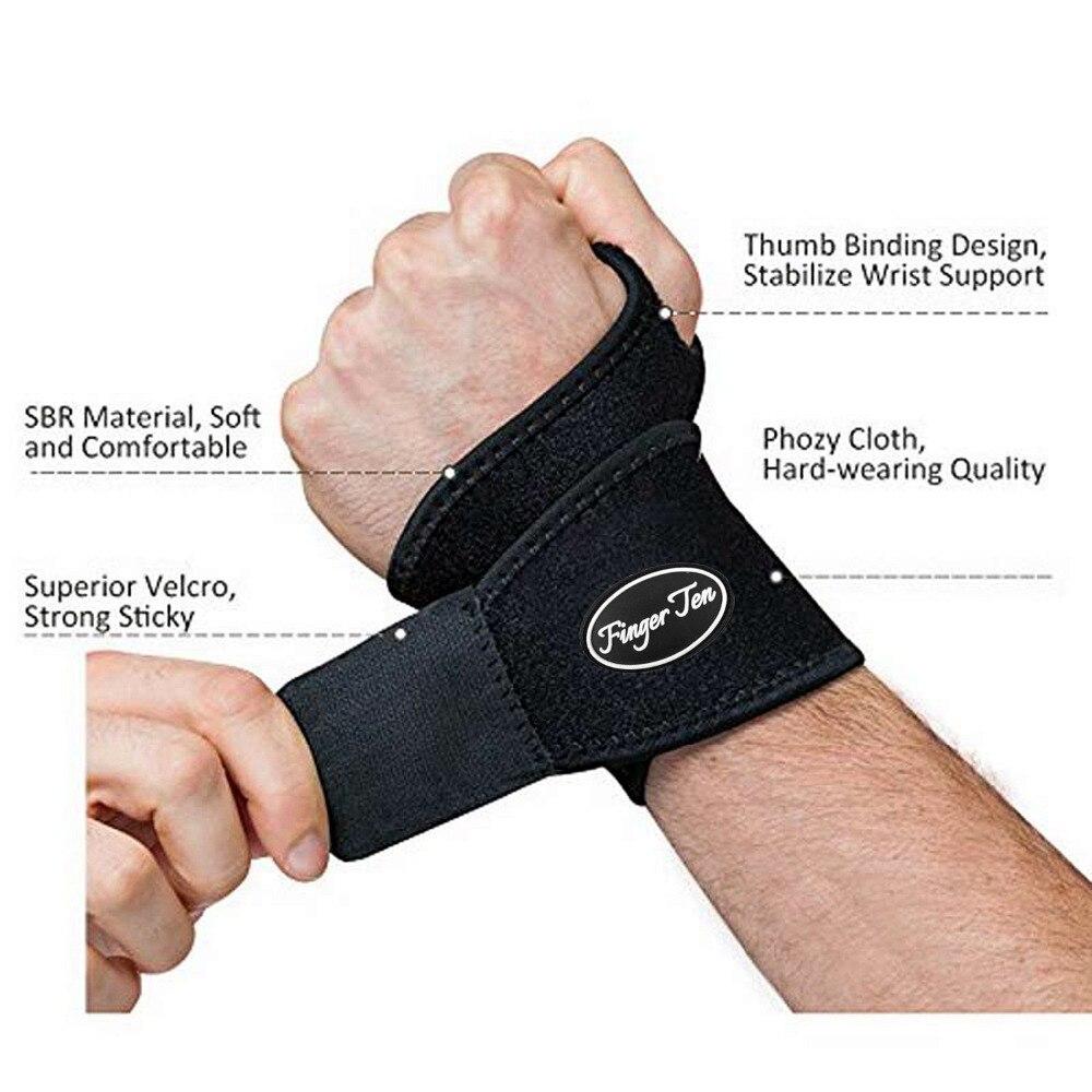 Wrist Support Strap Brace Arm Protector Sports Brace 1 Pc Wrist Hand Adjustable Breathable Carpal Tunnel Finger Ten