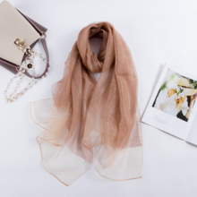 2019 solid silk scarf women hijab scarves shawls and wraps spring summer pashmina dropshipping 7 colors платки для волос