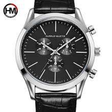New ArrivaL Japan Quartz Movement Mens Watch Brand Men's Leather Sports Role Fashion Casual Business Watch Relogio Masculino