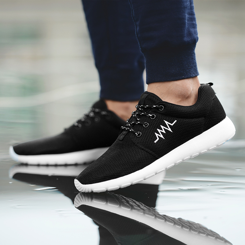 CASMAG Classic Men and Women Sneakers Outdoor Walking Lace up Breathable Mesh Super Light Jogging Sports Running Shoes 46