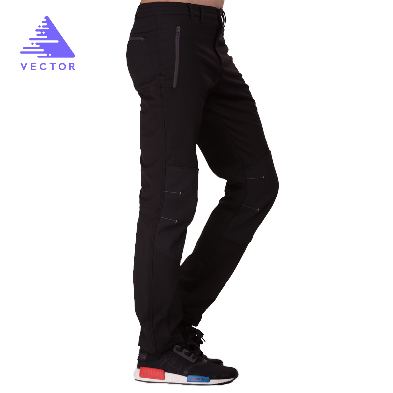 VECTOR Camping Hiking Pants Waterproof  Men Women Warm Winter Thicken Fleece Softshell Pants Outdoor Mountaineering Trekking