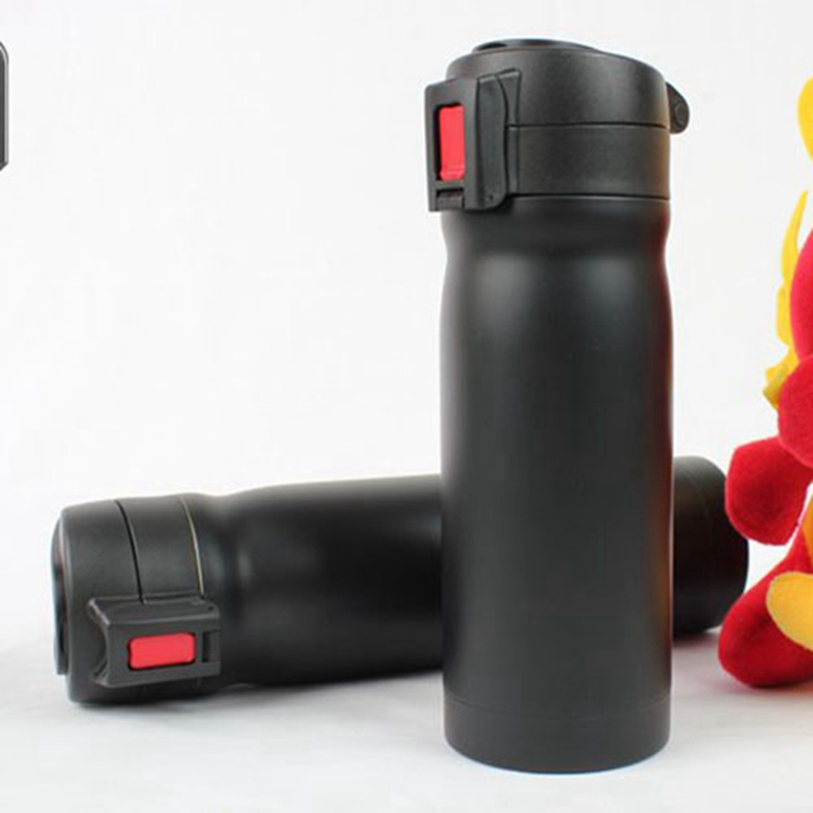 Bike Stainless Steel Water Bottle Black Red MTB Cycling Bicycle 500ml Sports Vacuum Thermos Flask