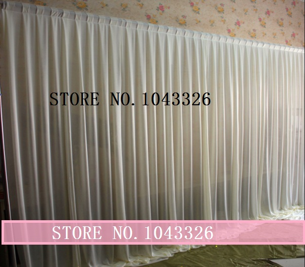 3m X 6m 10ft 20ft wedding party event stage decor white fabric ice silk drape curtain