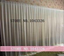 3 м Х 6 м (10ft * 20ft) свадьба событие стадия декор белая ткань шелк льда драпировка занавес фон