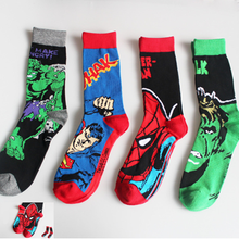 Avengers Marvel cartoon socks Batman superman Joker cosplay Fashion sock novelty Funny Casual men sock Spring
