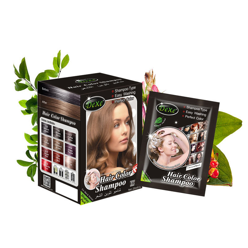 1 Pcs Dexe Hair Color Styling Hair Dye 5 Mins Into Colors Herb