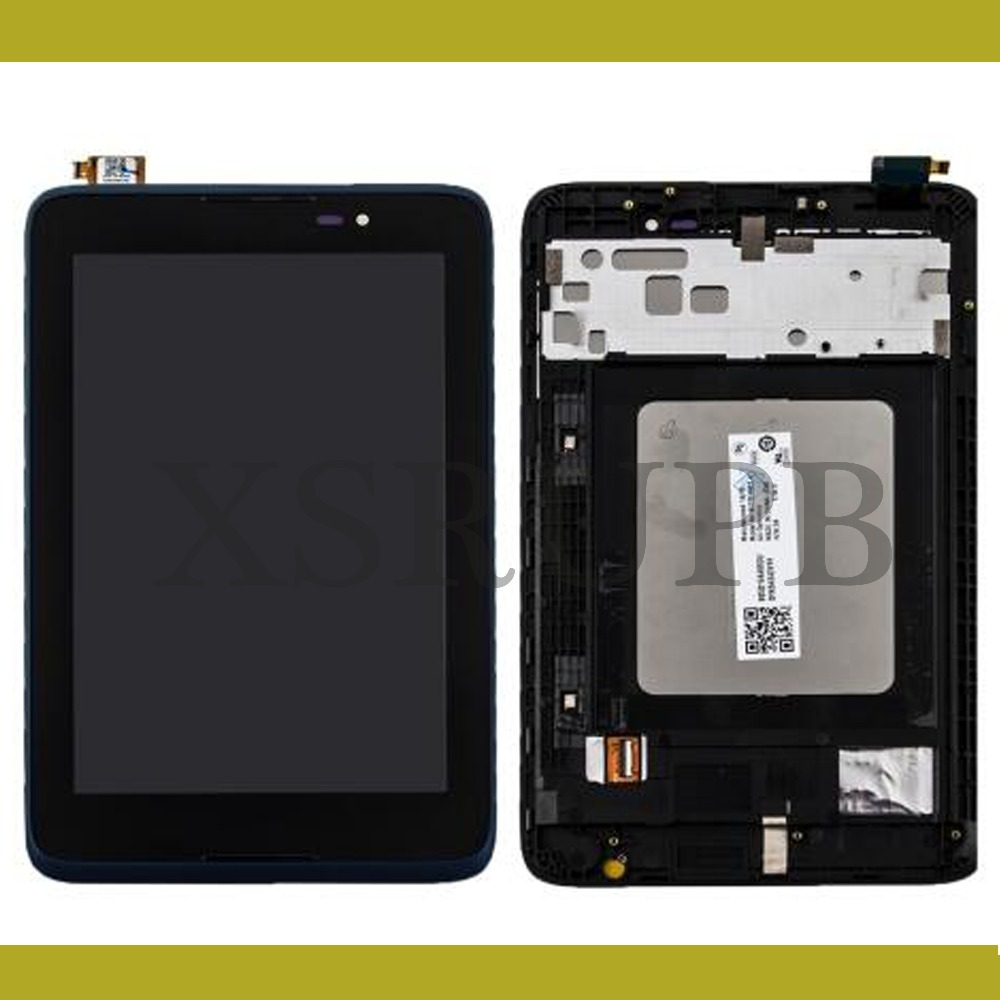 for Lenovo A7-50 A3500 Tablet PC Full LCD Display Panel Touch Screen Digitizer Glass Assembly With BLACK Frame, free shipping vibe x2 lcd display touch screen panel with frame digitizer accessories for lenovo vibe x2 smartphone white free shipping track