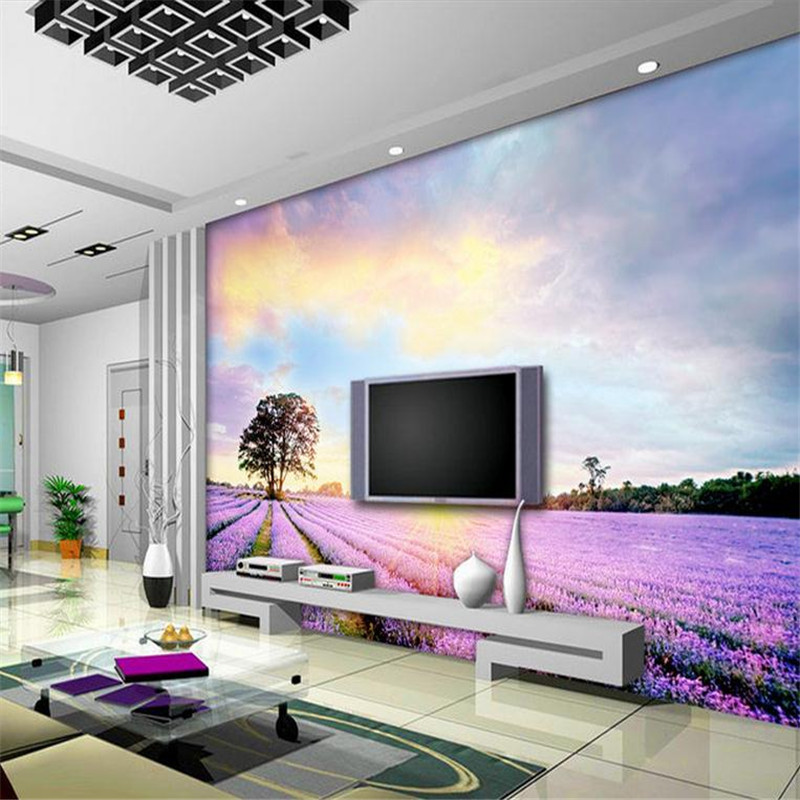 Sitting Room Design Wall Mural Wallpaper Purple and White Wallpaper Large Wall Decor Wall Art Ideas for Bedroom Home Wallpaper fashion letters and zebra pattern removeable wall stickers for bedroom decor