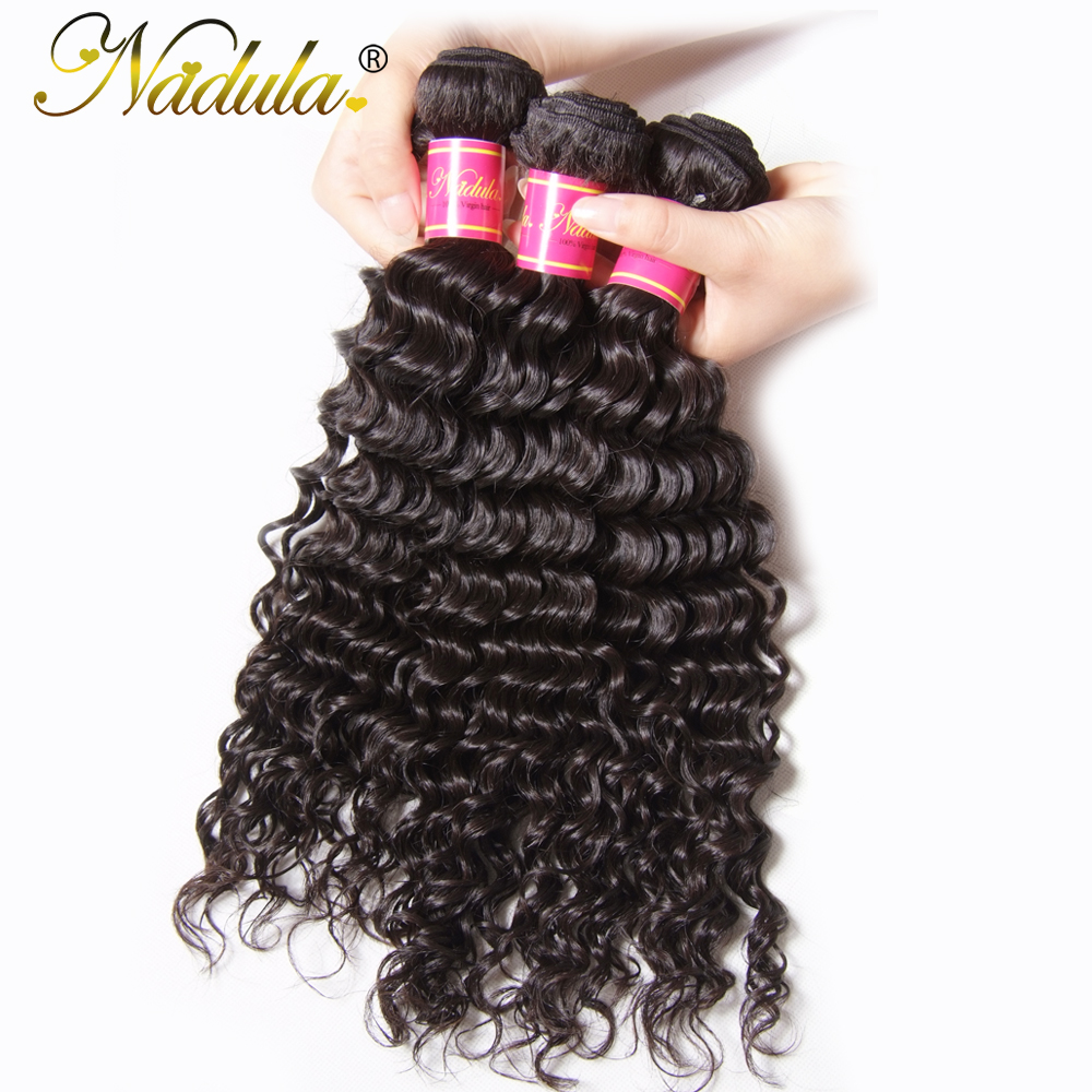 Nadula Hair Deep Wave Bundles Brazilian Hair Weave Natural Color 100 Human Hair Bundle Deals 12