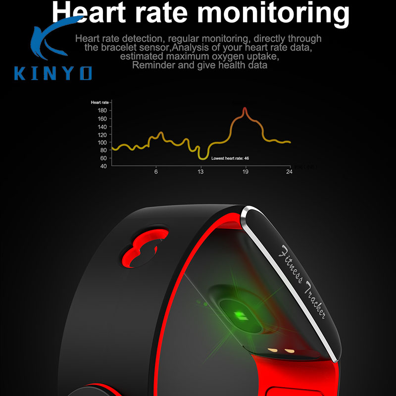 2018 Heart rate smart band Smart bracelet waterproof activity wristband High-capacity low-power USB charging pk xiomi mi band 3 ревербератор xox pk 3 usb pk 3 usb