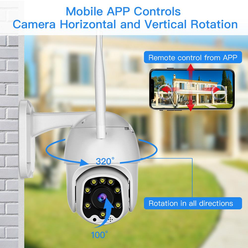 1080P 2MP Wireless IP Camera Wifi Speed Dome PTZ Outdoor IP66 Onvif Two Way Audio IR CCTV Security Surveillance Camara exterior in Surveillance Cameras from Security Protection