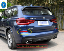 Yimaautotrims Accessory ABS Chrome Rear Fog Lights Lamp Protector Kit Cover Trim 2 Pcs Fit For BMW X3 G01 2018 2019 2020