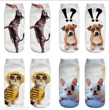 50 pair 3D Print Women's Socks Styles Golden Retriever Schnauzer Cute Ankle Socks For Women Children 3d galaxy one side print crazy ankle socks