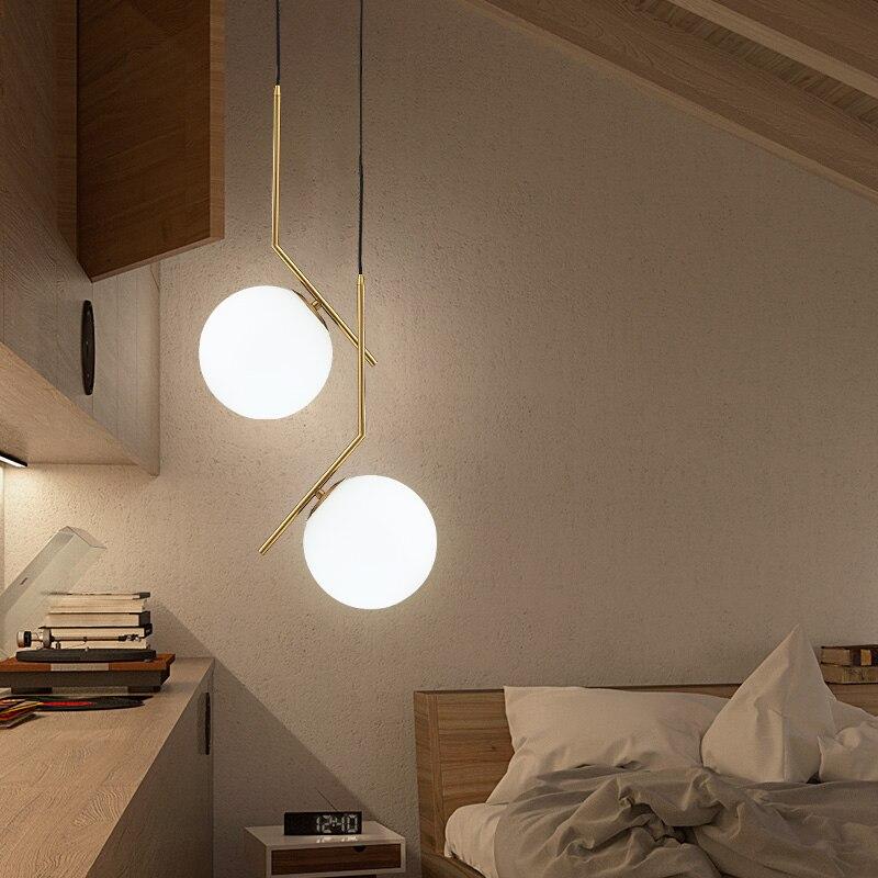 indoor lighting designer. FUMAT Indoor Lighting Milk White Glass Ball Pendant Lamp Modern Suespension Bedroom Study Designer Lights Fixture-in From