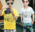 Please Buy any 2 pcs in shop size100~140 Child summer t-shirts boys tops tees children short sleeve t shirts geometric