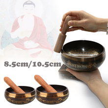 Nepal Bowl Singing Manual Tapping Metal Craft Buddhism Religious Earthenware Basin Tibetan Meditation