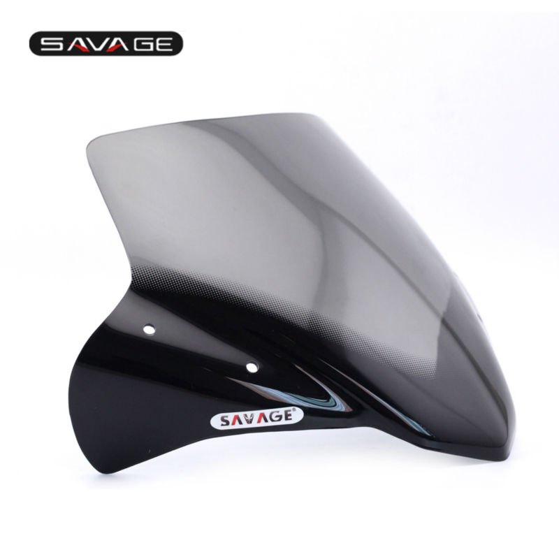 new motorcycle windshield windscreen pare brise smoke for. Black Bedroom Furniture Sets. Home Design Ideas