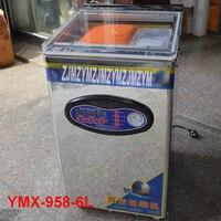 1 шт. Нержавеющаясталь стол Стиль пищевая вакуумная упаковочная машина настольная двойной насос вакуумный упаковщик машина 740 вт