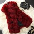 Последние Женщины Имитационные норки Жилет Женщин одежда майка пальто Тонкий объединившись Высокого класса Зима Женский Жилет B125