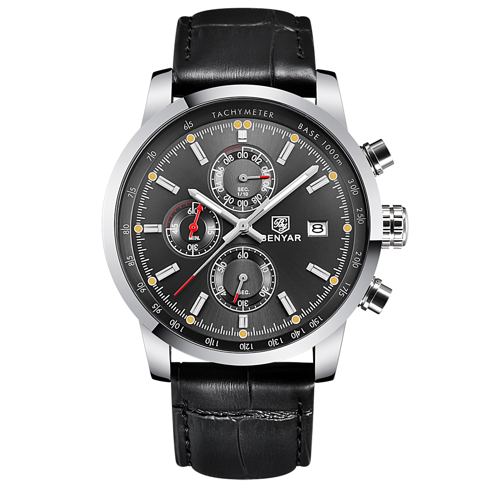 BENYAR Fashion Sport Luxury Waterproof Men's Quartz Watch