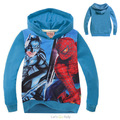 2016 Boys hoodies and sweatshirts spring autumn jacekt children hoodies spider man hoodie long sleeves fall 2-7Y baby clothes