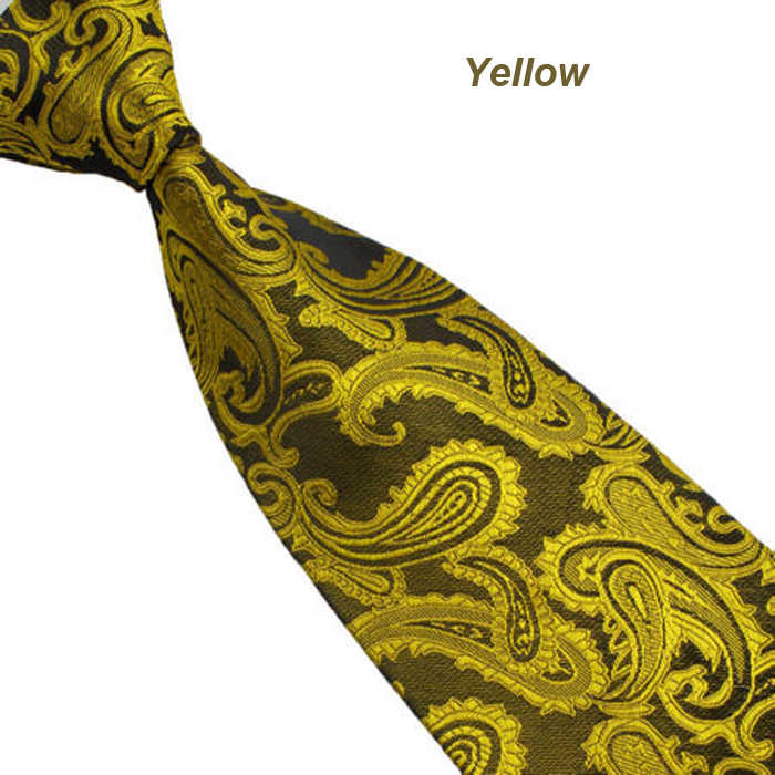 Men's Fashion New Silk Classic Paisley Mix Color South Korean  WOVEN Silk Men's Tie Necktie 145CM * 10CM  Drop Shipping 3J29