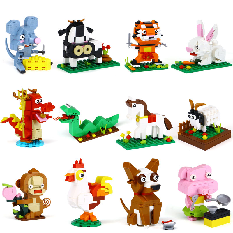 XINGBAO 18001 The Chinese Zodiac Set Building Blocks Bricks Funny Educational legoinglys Toys For Children As Birthday Gifts 120pcs set rainbow colored educational montessori toy birthday gift for children block brinquedo wood domino blocks funny toys