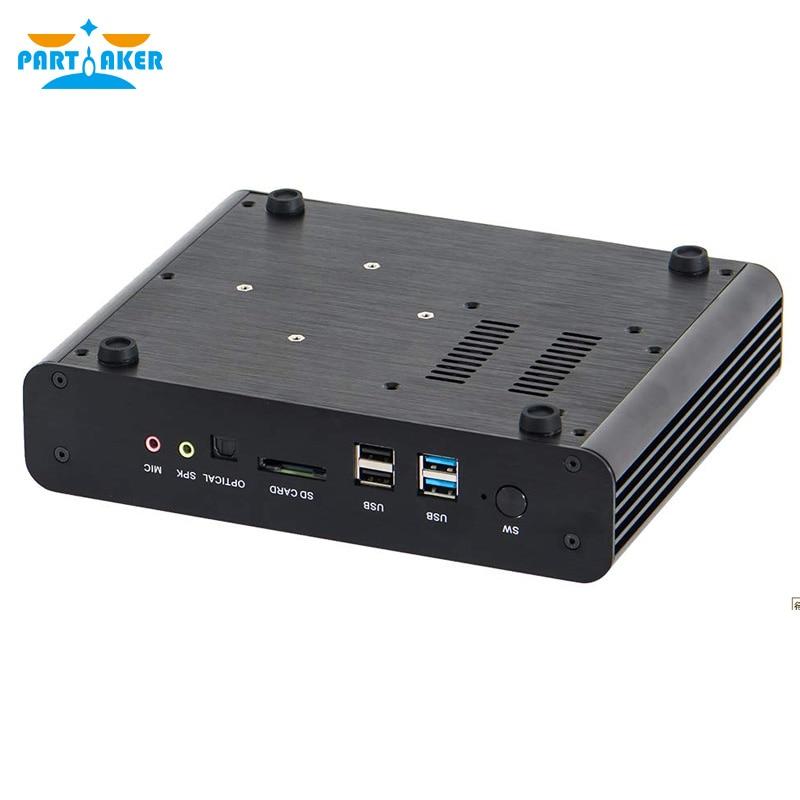 Parpreneur B13 Mini PC Core i7 7560U double LAN 2 * DDR4 Ram DP Barebones Mini ordinateur 4 K HD 8USB Mini pc de jeu