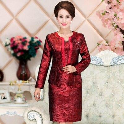 Nouvelle femme robe designer robe de mariée formelle mère de la mariée robes avec manches longues veste Mutter der Brautkleider