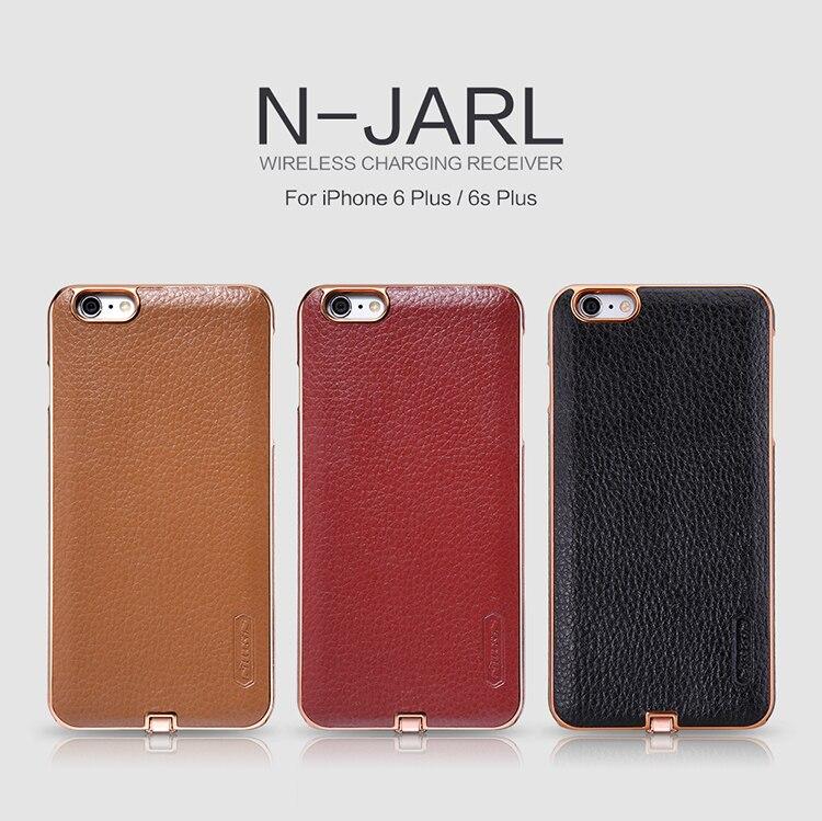 imágenes para Nillkin N-JARL Para iPhone 6/6 s 4.7 ''6 plus 6 Cubierta SPlus 5.5'' Receptor Cargador Inalámbrico potencia de Carga Qi Transmisor Receptor