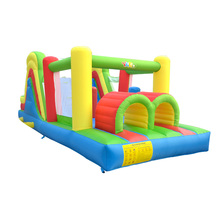 лучшая цена YARD Inflatable Jumping House Castle 6.5x2.8x2.7m Double Slides Kids PVC Oxford Inflatable Trampoline Castle Bouncer With Blower