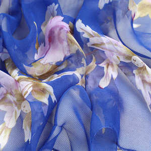 Image 4 - צעיף אישה מוסלמי חיג אב משי נשי קיץ הדפסת פרחי משי תחושה פוליאסטר צעיף אביב ובסתיו נשים צעיפי FZ055