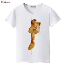 BGtomato Naughty Garfield 3D cartoon t shirt women Famous style lovely summer Brand good quality comfortable cotton