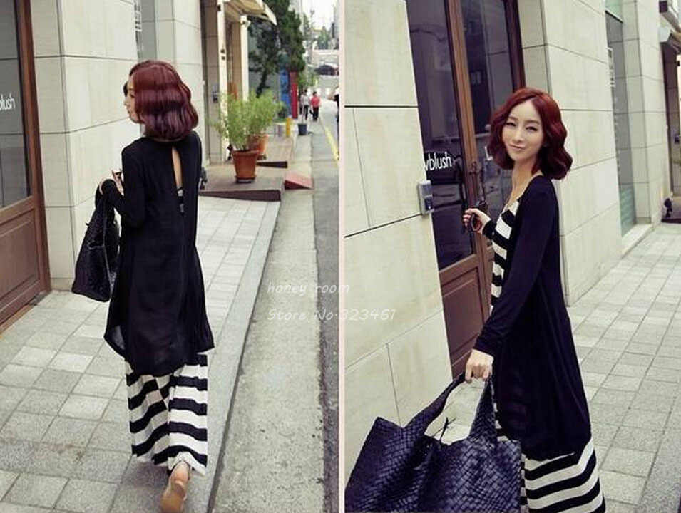 ... Fashion Maternity Cardigan Stripe One-piece Dress Full Dress Twinset  Clothing Clothes For Pregnant Women 0d641c56da1a