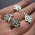 Free shipping (20 pieces /lot)    Hand shape anti-silver color zink alloy pendant   jewelry findings K1887