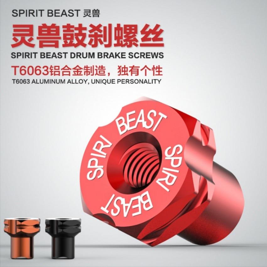 Spirit Beast 2pcs/lot motorcycle alloy drum brake screws cool styling
