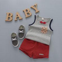 YiErYing Newborns Clothes Summer Sleeveless Fashion Leisure Baby Sets Coat+Pant 2Pcs Lovely Clothing Suits