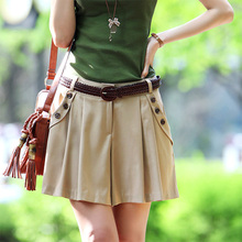 2017  New Summer Leisure Korean Fashion Female Occupation Loose Shorts Skirt WCD008