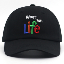 100% cotton soft about that life 3D embroidery bone baseball cap for women men fashion dad hat new casual caps