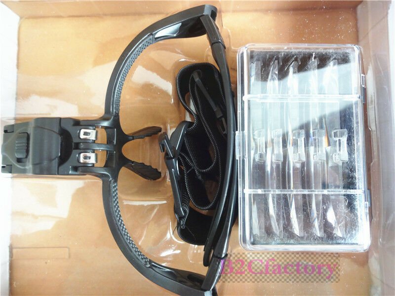 Free Magnifying Head Loupe With 5 Lenses And LED Lights Fue Hair Transplant Hand