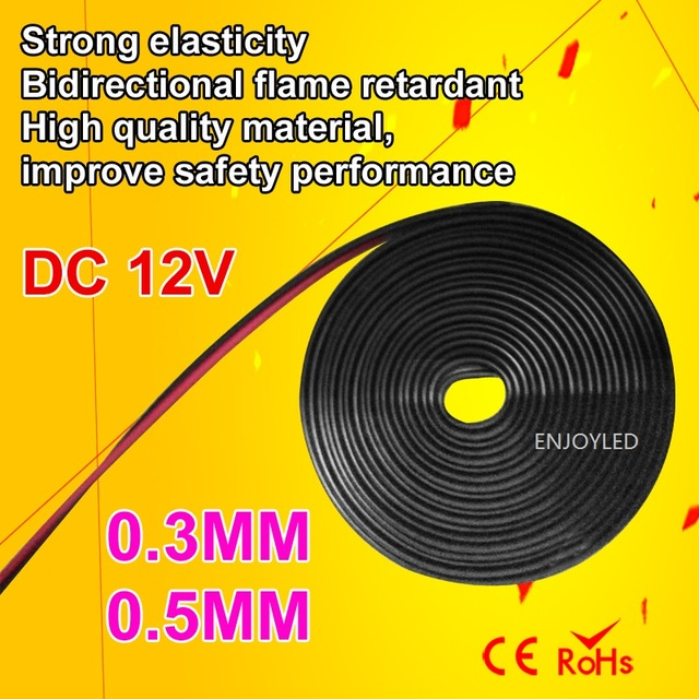 12v 0 5mm Led Lighting Fixture Power Cable Wire Suitable For Camper Caravan