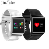 JingTider X9 Pro Colorful Screen Smart Band Wristband Heart Rate Monitor Blood Pressure Bracelet Waterproof IP67